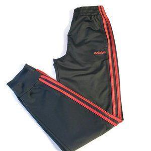 🌈Adidas Pants Black/ Red Stripes Boys Large 14/16